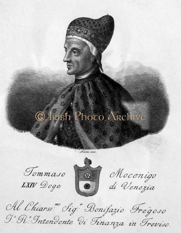 Portrait Tommaso Mocengio 1423. The Venetian Doge.