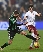Stephan El Shaarawy Roma (R), Domenico Berardi Sassuolo (L) <br /> Reggio Emilia 02-02-2016 Mapei Stadium Football Calcio Serie A 2015/2016 Sassuolo - Roma .<br /> Foto Image Sport/Insidefoto