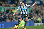 Daryl Janmaat (Newcastle United)  during the Barclays Premier League match between Everton and Newcastle United at Goodison Park, Liverpool, England on 3 February 2016. Photo by Mark P Doherty.