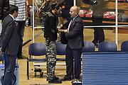 DESCRIZIONE : Torino Campionato 2015/16 Serie A Beko Lega A Manital Auxilium Torino -  Grissin Bon Reggio Emilia<br /> GIOCATORE : Massimiliano Menetti<br /> CATEGORIA : Curiosità Microfono Sky Sport TV Before Pregame<br /> SQUADRA : Grissin Bon Reggio Emilia<br /> EVENTO : LegaBasket Serie A Beko 2015/2016<br /> GARA : Manital Auxilium Torino - Grissin Bon Reggio Emilia<br /> DATA : 05/10/2015<br /> SPORT : Pallacanestro<br /> AUTORE : Agenzia Ciamillo-Castoria/GiulioCiamillo