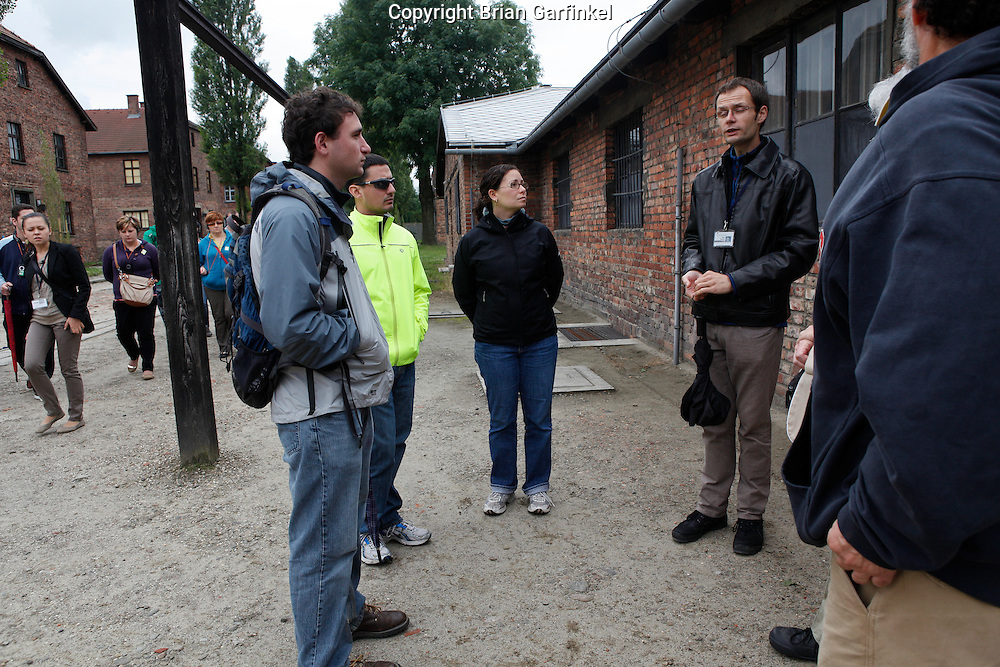 Joel, Jesus, and Kate in Auschwitz Concentration Camp in Poland on Tuesday July 5th 2011.  (Photo by Brian Garfinkel)