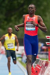 adidas Grand Prix Diamond League professional track & field meet: mens 800 meters, David Rudisha, Kenya.