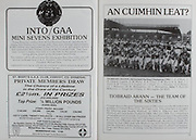 All Ireland Senior Hurling Championship Final, .04.09.1988. 09.04.1988, 4th September 1988,.4091988AISHCF,.Galway 1-15, Tipperary 0-14,.Galway v Tipperary, ..St Mary's GAA Club, Convoy, Co Donegal,.