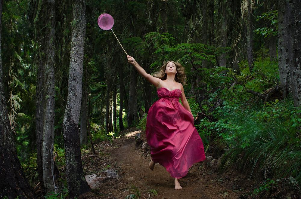 Conceptual, self-portrait, photographs taken in natural locations by photographer Janelle Pietrzak aka Explored Exposure.