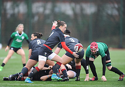 Wales women's Jade Knight<br /> <br /> Photographer Mike Jones/Replay Images<br /> <br /> International Friendly - Wales women v Ireland women - Sunday 21st January 2018 - CCB Centre for Sporting Excellence - Ystrad Mynach<br /> <br /> World Copyright © Replay Images . All rights reserved. info@replayimages.co.uk - http://replayimages.co.uk