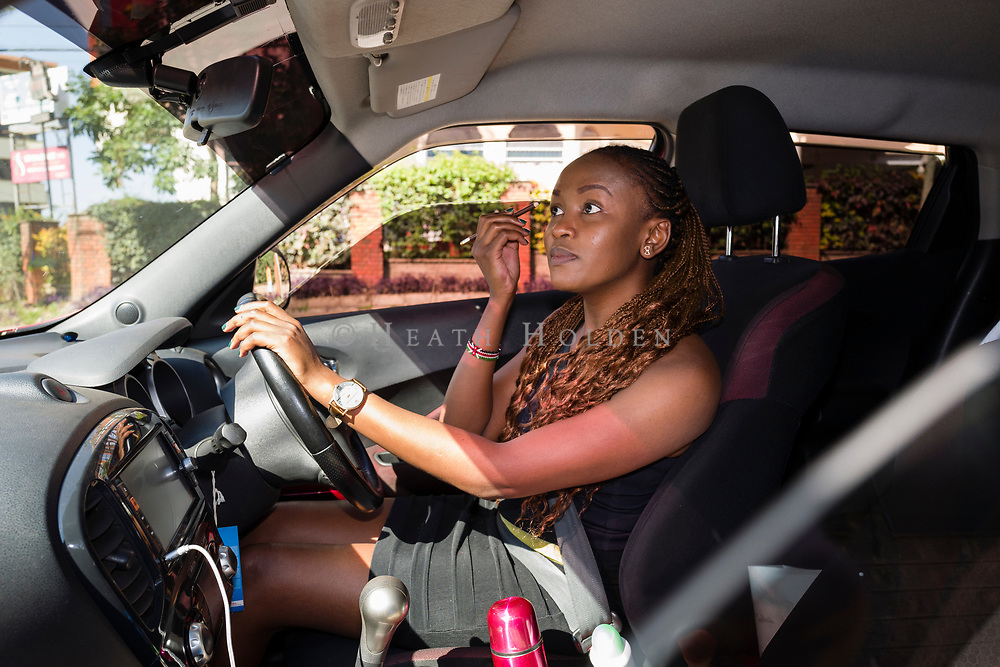 There is no better time to fine tune your make up than being stuck in traffic in Nairobi Kenya on Thursday 19th of September.
