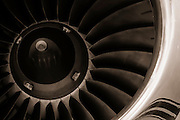 Turbine fan of a corporate jet.