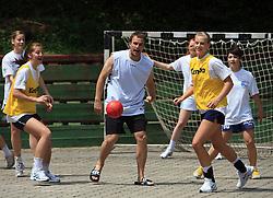 Uros Zorman na otroski rokometni akademiji Urosa Zormana v Dolenjskih toplicah, 27. junija 2008, Dolenjske toplice, Slovenija. (Photo by Vid Ponikvar / Sportal Images)
