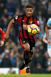 """AFC Bournemouth's Jordon Ibe during the Premier League match at the Etihad Stadium, Manchester. PRESS ASSOCIATION Photo. Picture date: Saturday December 23, 2017. See PA story SOCCER Man City. Photo credit should read: Martin Rickett/PA Wire. RESTRICTIONS: EDITORIAL USE ONLY No use with unauthorised audio, video, data, fixture lists, club/league logos or """"live"""" services. Online in-match use limited to 75 images, no video emulation. No use in betting, games or single club/league/player publications"""