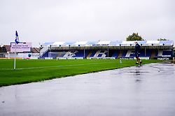 A general view of the Memorial Stadium as a member of staff wears a face mask due to the Covid 19 pandemic - Mandatory by-line: Dougie Allward/JMP - 03/10/2020 - FOOTBALL - Memorial Stadium - Bristol, England - Bristol Rovers v Northampton Town - Sky Bet League One