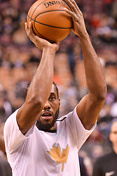 January 11, 2019 - Toronto, Ontario, Canada - Kawhi Leonard #2 of the Toronto Raptors with the ball before the Toronto Raptors vs Brooklyn Nets NBA regular season game at Scotiabank Arena on January 11, 2019, in Toronto, Canada (Toronto Raptors win 122-105) (Credit Image: © Anatoliy Cherkasov/NurPhoto via ZUMA Press)