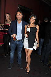 JAMIE REUBEN and SAMIRA JAVADOVA at the 39th birthday party for Nick Candy in association with Ciroc Vodka held at 5 Cavindish Square, London on 21st Januatu 2012.