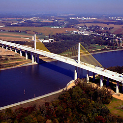 Aerial views of the <br /> William V Roth Jr. Bridge C& D Canal, St. Georges, Delaware