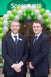 Director's Adam Gordon and Ian Hobson, at the official opening of the new Specsavers store at 70 St John Road, Corstorphine, Edinburgh.