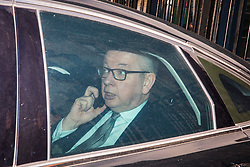 © Licensed to London News Pictures. 16/01/2018. London, UK. Secretary of State for Environment, Food and Rural Affairs Michael Gove leaves Downing Street after the weekly Cabinet meeting. Photo credit: Rob Pinney/LNP