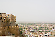 India, Rajasthan, Jaisalmer view of city from the fort