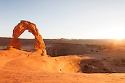 Delicate Arch, Wind sculpted archway, Arches National Park, Utah, United States of America