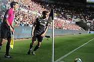 Cesc Fabregas of Chelsea prepares to take a corner kick. Premier league match, Swansea city v Chelsea at the Liberty Stadium in Swansea, South Wales on Sunday 11th Sept 2016.<br /> pic by  Andrew Orchard, Andrew Orchard sports photography.