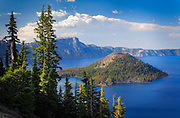 Wizard Island in Crater Lake, Oregon