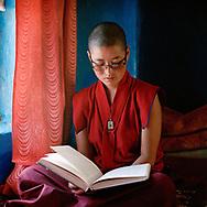nun of Yangchen Choeling nunnery, Spiti