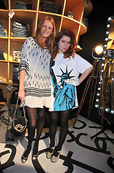 Left to right, OLIVIA INGE and PALOMA FAITH at the launch of the French Connection Denim store at 11 James Street, Covent Garden, London on 21st October 2009.