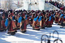 Celebrating Sagaalgan, the Buryatian lunar New Year, in Sovetov Square in Ulan-Ude in Siberia, Russia. Monday, February 24, 2020. Photography ©2020 Michael Lichter.