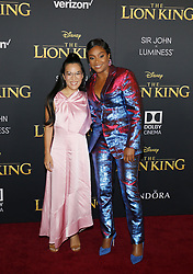 Ali Wong and Tiffany Haddish at the World premiere of 'The Lion King' held at the Dolby Theatre in Hollywood, USA on July 9, 2019.