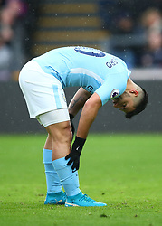 31 December 2017 -  Premier League - Crystal Palace v Manchester City - Sergio Aguero of Manchester City reacts after over running the ball - Photo: Marc Atkins/Offside