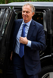 ©  London News Pictures. 05/07/2016. London, UK. Former British prime minister TONY BLAIR seen in central London on July 5, 2016. The the long-awaited Chilcot inquiry into the war in Iraq is due to be released on Wednesday. Photo credit: Ben Cawthra/LNP