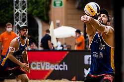 CHRISTOPH DRESSLER of Austria during Semifinals of Beach Volleyball World Tour in Ljubljana 2020, on August 2, 2020 in Kongresni trg, Ljubljana, Slovenia. Photo by Grega Valancic / Sportida