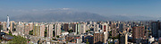 Panoramic view from Cerro Santa Lucia, Santiago, Chile.