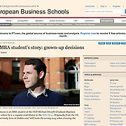 "Screengrab of ""MB Student in Ireland"" published in The Financial Times"