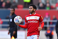 Jay Dasilva (3) of Bristol City during the EFL Sky Bet Championship match between Bristol City and Derby County at Ashton Gate, Bristol, England on 27 April 2019.