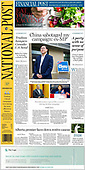 September 23, 2021 - CANADA: Front-page: Today's Newspapers In Canada