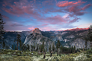 Sunset at Glacier Point in Yosemite National Park
