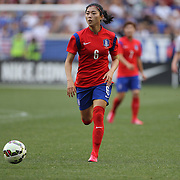 Seo-yeon Shim, Korean Republic, in action during the U.S. Women's National Team Vs Korean Republic, International Soccer Friendly in preparation for the FIFA Women's World Cup Canada 2015. Red Bull Arena, Harrison, New Jersey. USA. 30th May 2015. Photo Tim Clayton