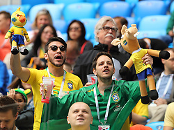 June 22, 2018 - Russia - June 22, 2018, Russia, St. Petersburg, FIFA World Cup, Group E, Second Round, Brazil vs Costa Rica to St. Petersburg arena. Fans (Credit Image: © Russian Look via ZUMA Wire)