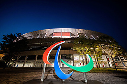 TOKYO, JAPAN --AUGUST 28: 'Three Agitos' Parallympic symbol during the Tokyo 2020 Paralympic Games at Olympic Stadium on August 28, 2021 in Tokyo, Japan. Photo by Vid Ponikvar / Sportida