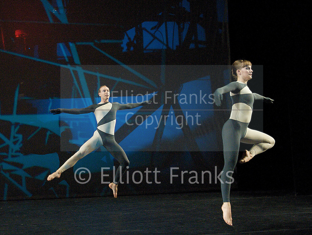 Nearly Ninety<br /> The Merce Cunningham Dance Company <br /> choreography by Merce Cunningham<br /> at The Barbican Theatre, London, Great Britain <br /> rehesrsal <br /> 26th October 2010 <br /> <br /> <br /> <br /> <br /> <br /> John Hinrichs<br /> Jamie Scott <br /> <br /> <br /> <br /> Photograph by Elliott Franks<br /> 2010©Elliott Franks