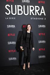Camilla Filippi at the Red Carpet of the series Suburra 2 at Circolo Degli Illuminati in Rome, Italy, 20 February 2019 .Dress: Trussardi  (Credit Image: © Lucia Casone/Soevermedia via ZUMA Press)
