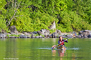Sea kayaking at Whitefish Lake State Park in Montana model released