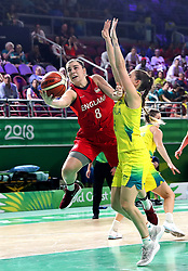 England's Georgia Jones in action in the Women's Gold Medal Game at the Gold Coast Convention and Exhibition Centre during day ten of the 2018 Commonwealth Games in the Gold Coast, Australia.