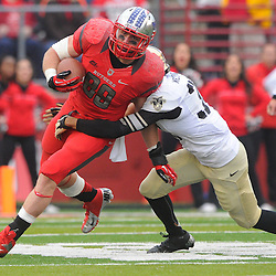 10 November 2012: Rutgers Scarlet Knights tight end Paul Carrezola (89) runs after a reception during NCAA college football action between the Rutgers Scarlet Knights and Army Black Knights at High Point Solutions Stadium in Piscataway, N.J.. Rutgers defeated Army 28-7.