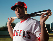 Infielder Luis Valbuena poses during the Angels' Photo Day at Spring Training in Tempe, AZ on Tuesday, February 21, 2017. (Photo by Kevin Sullivan, Orange County Register/SCNG)
