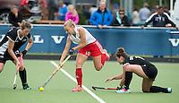 BREDA (Neth.)  Hannah Martin of England with during the match  New Zealand vs England U21 women . Volvo Invitational Tournament U21. COPYRIGHT KOEN SUYK