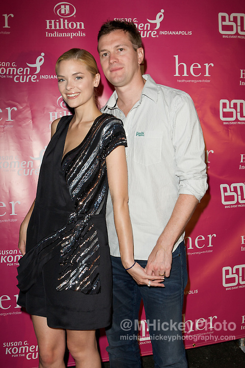 Actress Jamie King and Kyle Newman appear on the Pink Carpet at the Her House event at the Mavris in Indianapolis, Indiana.Photo by Michael Hickey
