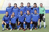 """Empoli team group<br /> <br /> Friendly Match <br /> <br /> 05 Aug 2007 <br /> <br /> Empoli-Frosinone (3-1)<br /> <br /> """"Luca Castellani"""" Stadium-Empoli-Italy<br /> <br /> Up: Andrea Raggi, Nicola Pozzi, Rej Volpato, Felice Piccolo. Felice Prevete, Daniele Balli<br /> <br /> Bottom: Vittorio Tosto, Sebastian Giovinco, Guillermo Giacomazzi, Ignazio Abate, Lino Marzoratti<br /> <br /> Photographer Andrea Staccioli INSIDE"""