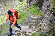 """A nervous moment - crossing the """"Bad Step"""" in dry conditions."""