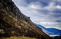 Looking down the road towards Tal-y-llyn Lake, also known as Talyllyn Lake, Llyn Mwyngil or Llyn Myngul  situated at the foot of Cadair Idris, in the Snowdonia mountain range of Gwynedd, Wales.<br /> <br /> (c) Andrew Wilson   Edinburgh Elite media