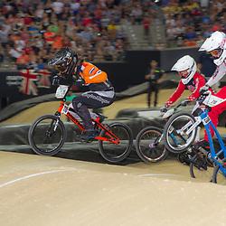 27-07-2014: Wielrennen: WK BMX : Rotterdam Laura Smulders (110) in haar bronzen race
